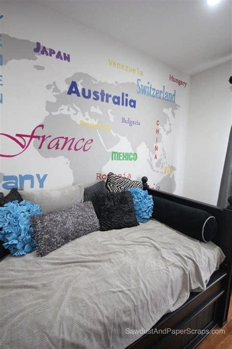 world map in bedroom world map teen bedroom sawdust paper scraps