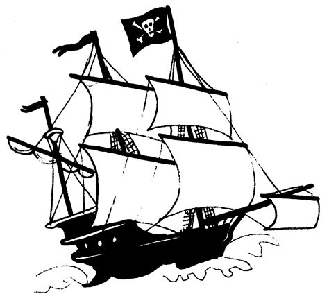 pirate ship template pirate ship outline clipart best