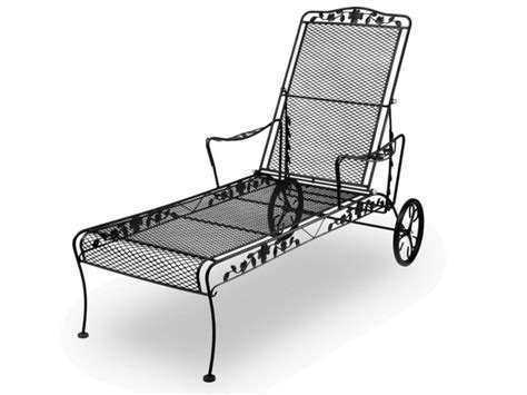 Black Wrought Iron Patio Chaise Lounge by Black Wrought Iron Chaise Lounge Chairs Picture 37