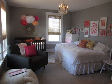 Nursery In Bedroom by Nursery With Size Bed As Well As Crib