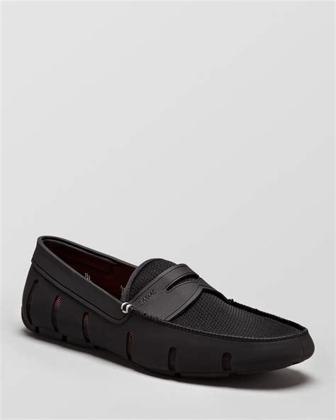swims black loafers swims perforated loafers in black for lyst