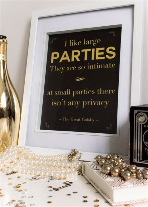 printable gatsby quotes framed quote from the great gatsby wedding decor