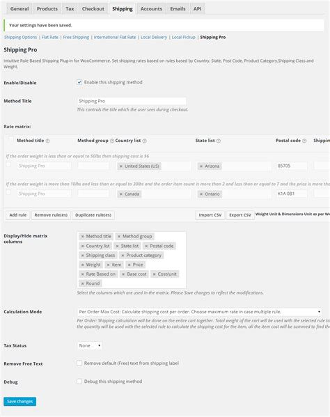 woocommerce table rate shipping woocommerce table rate shipping the advanced shipping