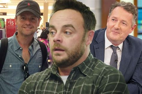 celebrity interviews on drugs celebrities rally around ant mcpartlin after he checks