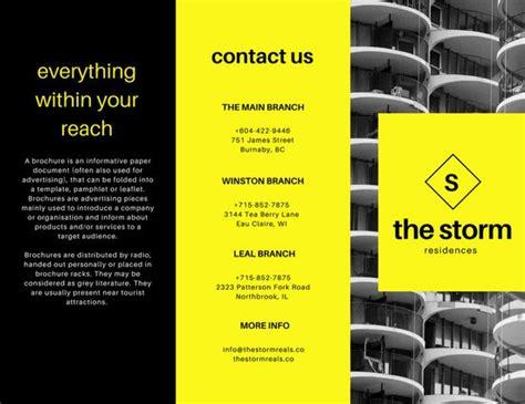 canva leaflet design brochure templates canva