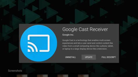 google cast receiver  android tv devices    play store talkandroidcom