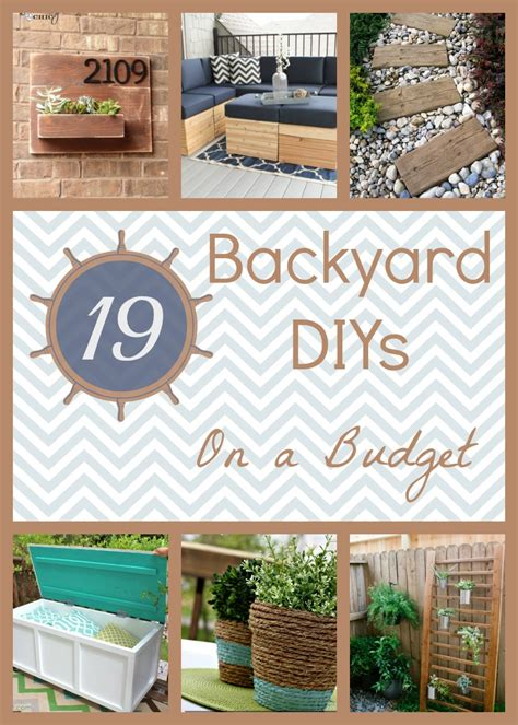 backyard diy ideas 19 backyard diy spruce ups on a budget how does she