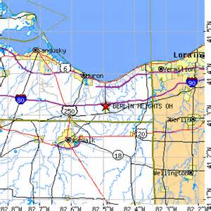 Berlin Ohio Map by Berlin Heights Ohio Oh Population Data Races