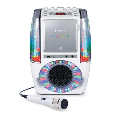 singing machine bluetooth karaoke system with disco lights singing machine agua dancing water fountain karaoke system