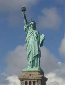what color is the statue of liberty bronze sculpture and statue patina