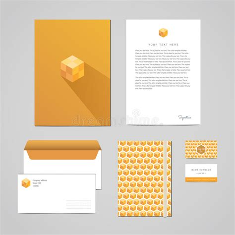 business card letterhead envelope vector corporate identity design template documentation for