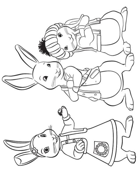 peter rabbit coloring pages nick jr lily peter and benjamin to print crafts pinterest