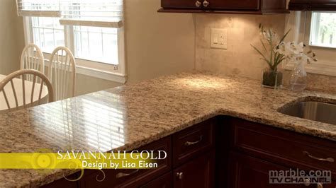 savannah gold granite kitchen design  lisa eisen