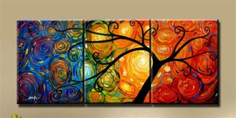 handmade abstract painting multicolored to paint
