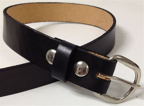 Handmade Mens Leather Belts - handmade mens leather belt 1 25 quot wide brown or black
