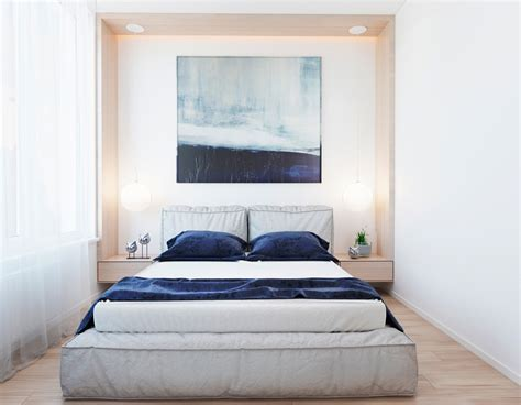 modern blue bedroom modern apartment concept with modern color scheme and