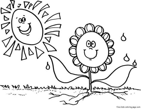 print out spring flower sunflower coloring pagesfree