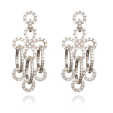 Silver Chandelier Earrings Uk Ingenious Sterling Silver Chandelier Earring With Twist Circles