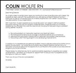nurse educator cover letter sample livecareer