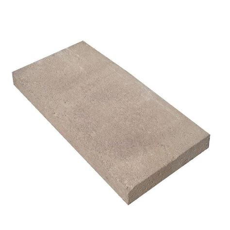 oldcastle 8 in x 16 in brown concrete step