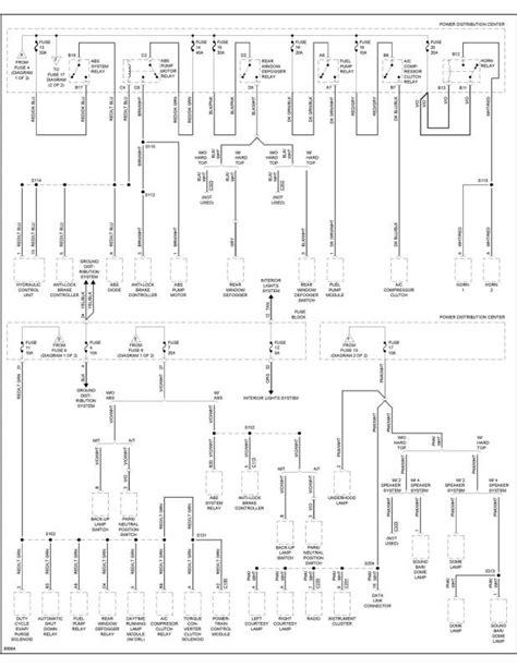 1997 jeep wrangler tj wiring diagram jeep wiring
