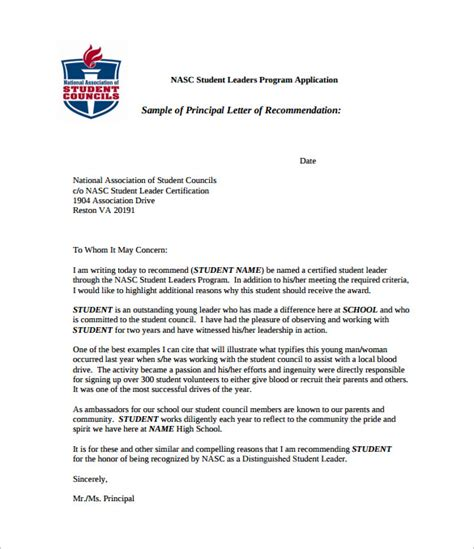 Acceptance Letter For Student Council letter of recommendation for student 35 free
