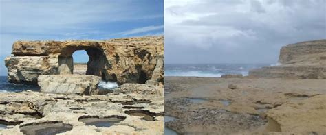 azure window before and after malta s famous azure window has collapsed into the sea