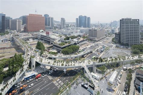 Seoul Garden Sf by Highway Becomes Park With 24 000 Plants In