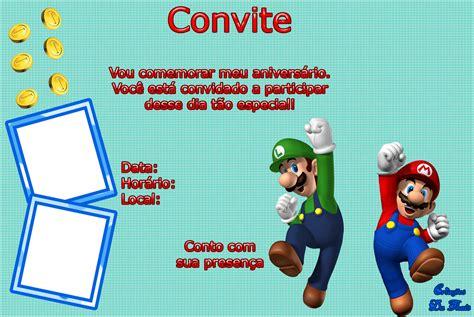 Modelo De Convite Para Festa Photoshop E Arte Convites Cria 231 245 Es Da Tha 237 S Convites Para Festa No Tema Mario