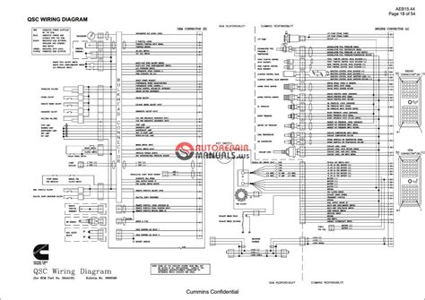 cummins qsb qsc qsm11 wiring diagram auto repair