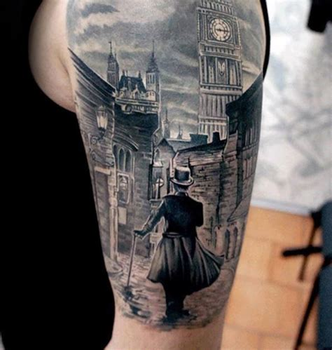 hope street tattoo walking of city mens building half sleeve