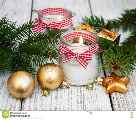 candele decorazioni candele delle decorazioni di natale in barattoli di vetro
