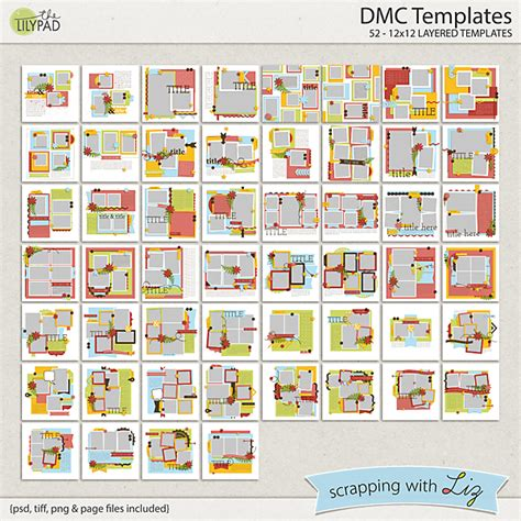 Digital Scrapbook Template Dmc Scrapping With Liz 12x12 Digital Scrapbook Templates