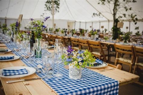 rustic country marquee wedding filled  foliage blue