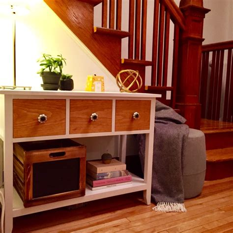 Diy Console Table With Drawers by 3 Drawer Mini Console Table Diy Montreal