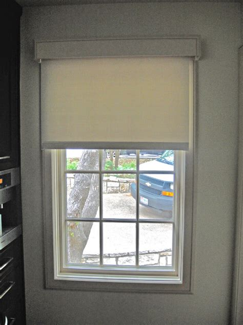Roller Shades For Windows Designs Roller Shade With Custom Valances Modern Dallas By Kite S Interiors