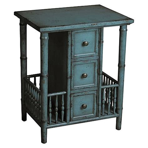 pulaski accents side table in black 641065 pulaski casto faux bamboo 3 drawer side accent table in