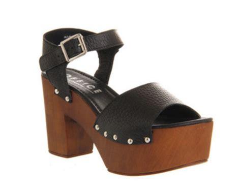 shoes wooden wedges wedges black wedges platform