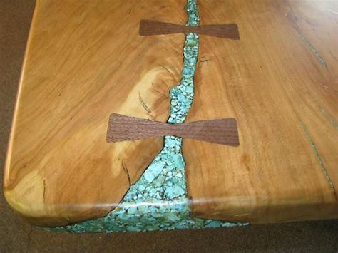 live edge table with turquoise inlay custom wood tables wood genius clyde haymore mount