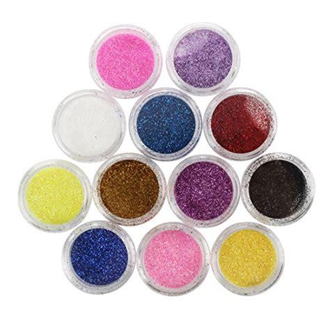 polveri glitter e unghie fashioniamoci 12pz brillantini polveri glitter per unghie nail art