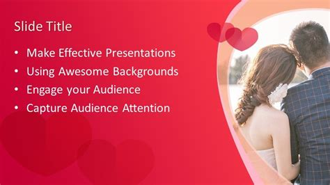 wedding couple powerpoint template  powerpoint