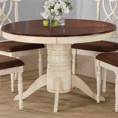 Round Dining Room Tables With Leaves 42 Round Pedestal Dining Table With Leaf