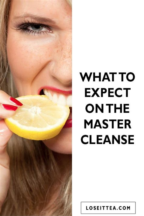 What To Expect While Detoxing From by What To Expect On The Master Cleanse By Loseit Tea At