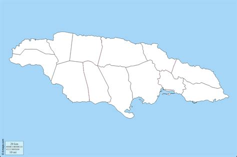 printable map of jamaica with parishes blank map of jamaica pictures to pin on pinterest pinsdaddy