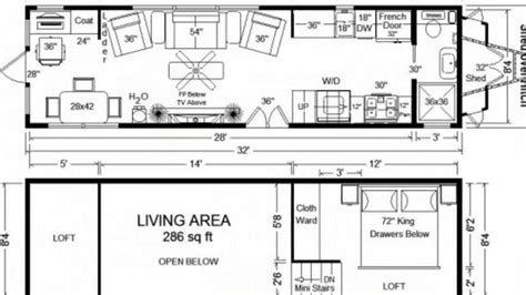 Tiny House Floor Plans 32 Long Tiny Home On Wheels 2 Bedroom Tiny House Plans On Wheels