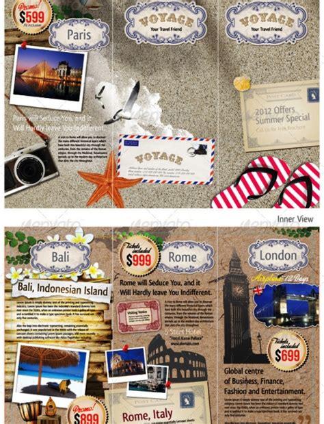 contoh desain brosur tour and travel 25 contoh desain brosur tour travel terbaik inspiratif idea