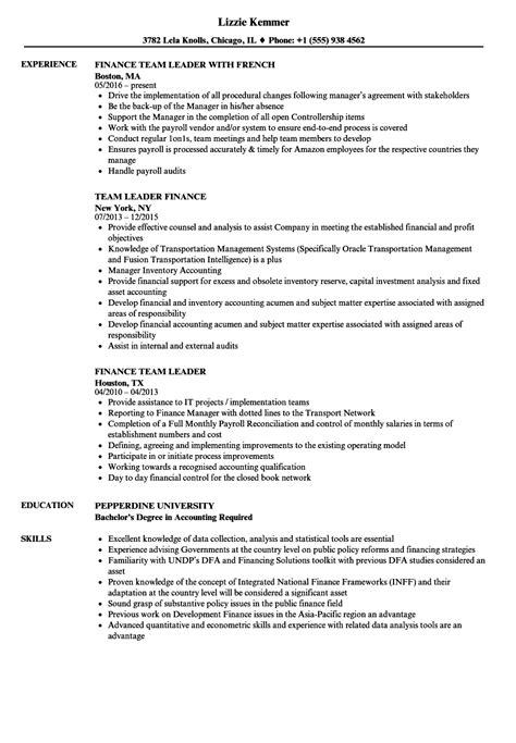 team leader resume example unforgettable team lead resume