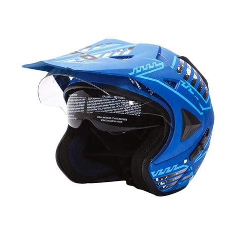 Helm Half Cross jual wto helmet pro sight cross visor helm half seablue doff harga