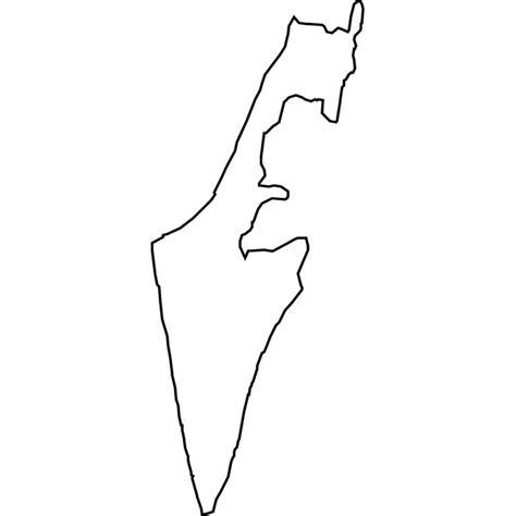 israel vector map   vectorportal
