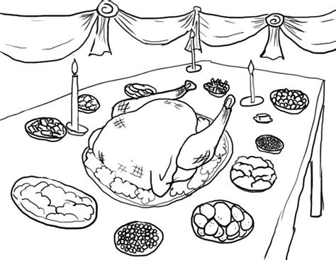 coloring page of thanksgiving dinner thanksgiving dinner coloring page all colored up pinterest